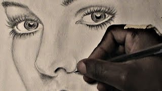 getlinkyoutube.com-HOW TO DRAW: Female Eyes Nose and Lips