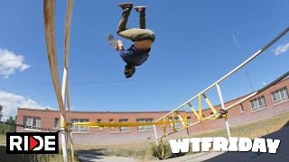 William Spencer Backflips with Skateboard