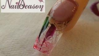 getlinkyoutube.com-Decoracion de uñas con gota de arte. como hacer uñas acrilicas esculturales y tip paso a paso 2015
