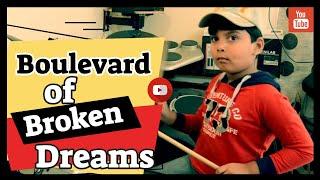 Boulevard of Broken Dreams | Drums Cover | Shaan | 5-Year-old