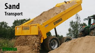 Stronga DumpLoada DL600 – Heavy sand transport with a John Deere tractor