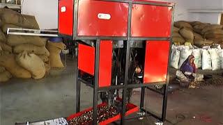 getlinkyoutube.com-Automatic cashew Nut shelling Machine.by ART Machinery, Kanodar mp4 (Four Cutter)