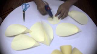 getlinkyoutube.com-DIY giant paper flower from A4 paper