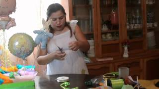getlinkyoutube.com-centro de mesa para baby shower o bautizo