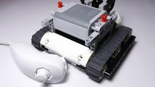 getlinkyoutube.com-Wii Nunchuk Analog Stick Controlling LEGO Power Functions Tank by Arduino