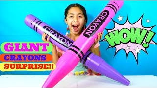 getlinkyoutube.com-2 Giant Crayons Huge Surprise!! Frozen, Doc McStuffins MLP LPS | B2cutecupcakes