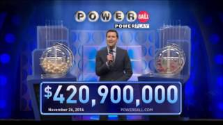 getlinkyoutube.com-November 26, 2016, 420.9 Million Jackpot United States Powerball results and winning numbers