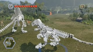 getlinkyoutube.com-LEGO Jurassic World - All Playable Dinosaur Skeletons Unlocked | Free Roam Gameplay [HD]
