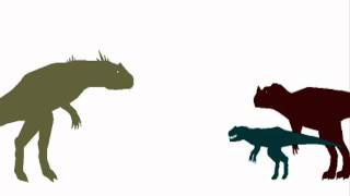 Dinosaurs Allosaurus Vs Ceratosaurus