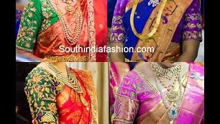 getlinkyoutube.com-Blouse Designs for Pattu Sarees
