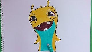getlinkyoutube.com-Dibujando y coloreando a Hypnogriff (Bajoterra) - Drawing and coloring Hypnogriff