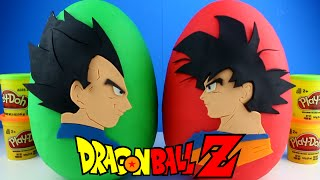 getlinkyoutube.com-Dragon Ball Z Goku Vs Vegeta Play Doh Surprise Egg - DragonBall Z Toys Mystery Toys