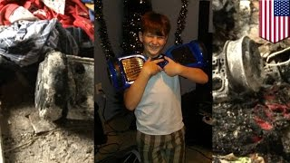 getlinkyoutube.com-Exploding hoverboard burns family's house down in Louisiana - TomoNews