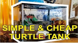 HOW TO SET UP SIMPLE & CHEAP TURTLE TANK   DIY