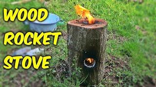 getlinkyoutube.com-How To Make A Wood Rocket Stove