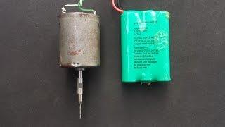 getlinkyoutube.com-How to make mini drill machine in 5 minutes
