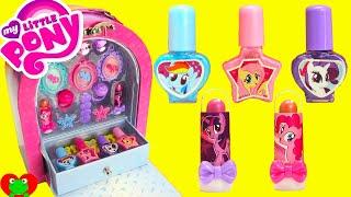getlinkyoutube.com-My Little Pony Makeup Case Nail Polish Lip Gloss Surprises