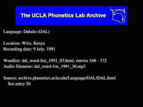 Dahalo audio: dal_word-list_1991_30