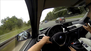 getlinkyoutube.com-BMW 320i - German highway / autobahn - High speed max 240 (Full HD)