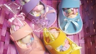getlinkyoutube.com-ZAPATITOS DE NIÑA PARA BABY SHOWER CON FOAMY O GOMA EVA / Baby Shower souvenir DIY