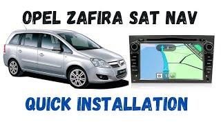 getlinkyoutube.com-Vauxhall Zafira B Double Din Sat Nav WIFI 3G installation- Xtron