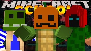 getlinkyoutube.com-Minecraft School - THE CLASS MAKE HALLOWEEN MASKS!