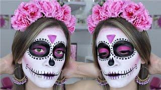 getlinkyoutube.com-Maquillaje de Catrina Fácil para Principiantes | HALLOWEEN | NatyGloss