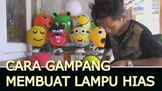 getlinkyoutube.com-Cara  Membuat Lampion cantik dari  Benang jahit