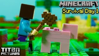 getlinkyoutube.com-Lego Minecraft Survival 1