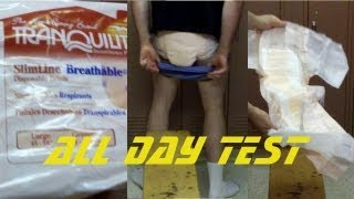 getlinkyoutube.com-wearing Tranquility Slimline® Breathable adult diapers. Test and review