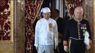El embajador de Myanmar presenta sus credenciales a S.M. el Rey