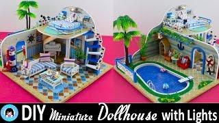 "getlinkyoutube.com-🎉DIY Miniature Doll House with LED Lights -""Clear Summer Villas"" ! ♥ DarlingDolls DIY"