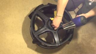 getlinkyoutube.com-How to Carbon Fiber Vinyl your wheels!!! DIY for Cheap n Easy