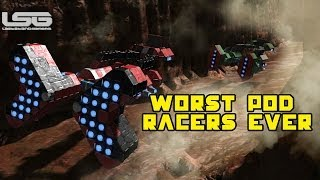 getlinkyoutube.com-Space Engineers - The Worst Pod Racers Ever, Star Wars Race Track