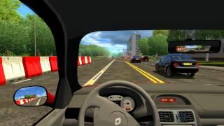 getlinkyoutube.com-City Car Driving 1.2.4: Renault Clio Sedan