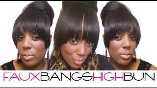 getlinkyoutube.com-How To: Faux Bangs High Bun