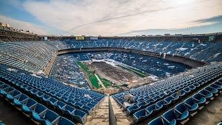 getlinkyoutube.com-The Abandoned Pontiac Silverdome Stadium - Transformers Last Knight Filming Location!!!