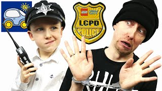 getlinkyoutube.com-Лего Полиция 60047. Распаковка Лего Полицейский Участок. Unboxing Lego City Police Station. Картонка