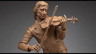 getlinkyoutube.com-Clay sculpting demo: Niccolo Paganini miniature time-lapse