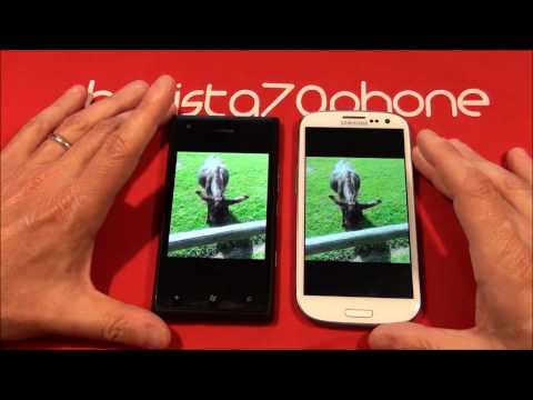 Nokia Lumia 900 vs Samsung Galaxy S3 video da batista70phone