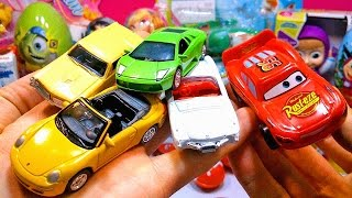 getlinkyoutube.com-Тачки 2 Киндер Сюрприз и Машинки Cars 2 Toys Surprise Egg