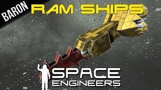 getlinkyoutube.com-Space Engineers - Ram Ships, Heavy Armor, and Ramming Testing
