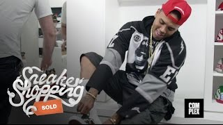 Chris Brown fait son shopping de sneakers !