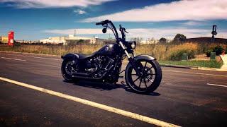 getlinkyoutube.com-Harley Davidson Breakout FXSB Softail Custom Ape Hanger Bassani Sound