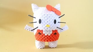getlinkyoutube.com-How To: 3D Origami Hello Kitty