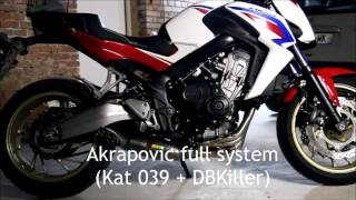 getlinkyoutube.com-CB650F Akrapovic full system (KAT+DBKiller)