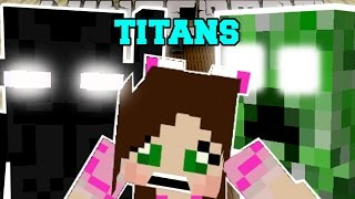 Minecraft: TITAN MOBS! (LARGEST MINECRAFT BOSSES EVER!!) Mod Showcase