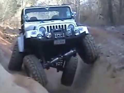 Jeep Wrangler - Работа подвески машины!)