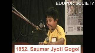 Singing by Saumar Jyoti Gogoi