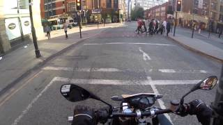 getlinkyoutube.com-Moments 2 - Loud exhaust & Pedestrians - Husqrvana Nuda 900
